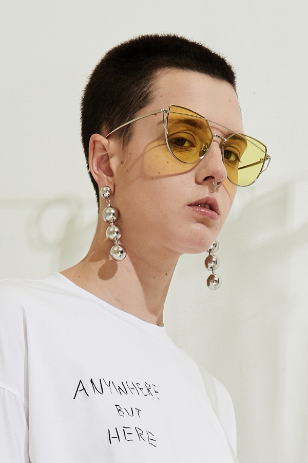 Yellow Tint Sunglasses by Front Row Shop via DNAMAG