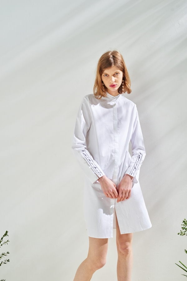 Front Row Shop - embroidered shirt dress via DNAMAG