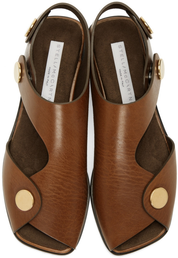 Stella McCartney tan cowper sandals via DNAMAG