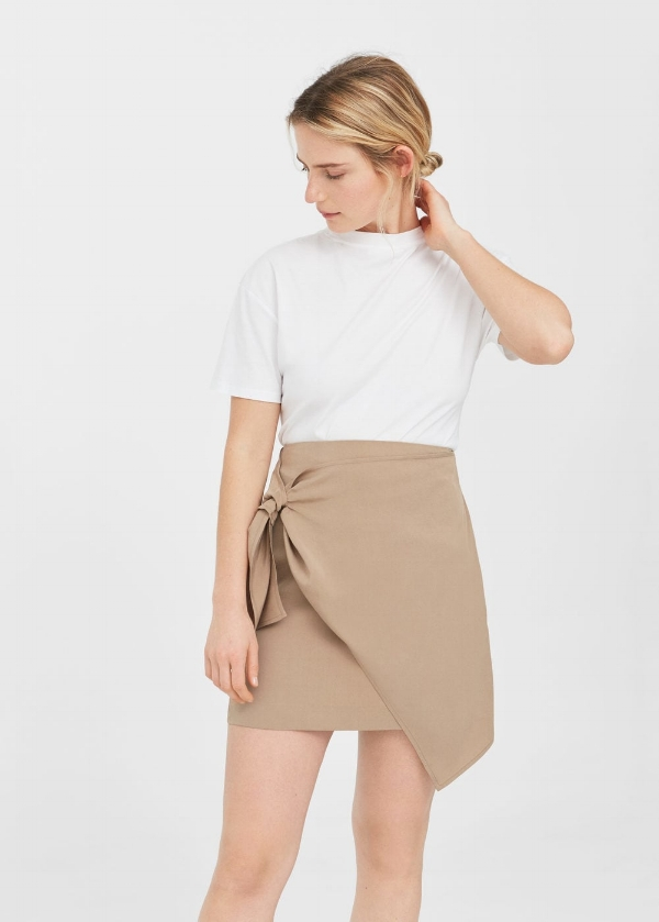Mango - decorative knot skirt via DNAMAG