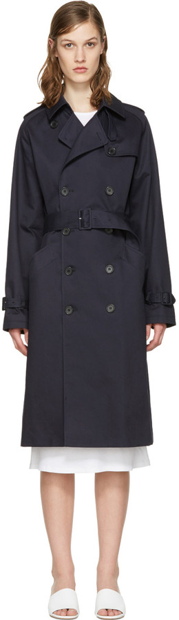 A.P.C. - Greta navy trench coat