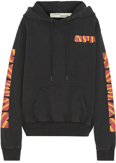 Off-White: Rays Over Printed Cotton-Jersey Sweatshirt