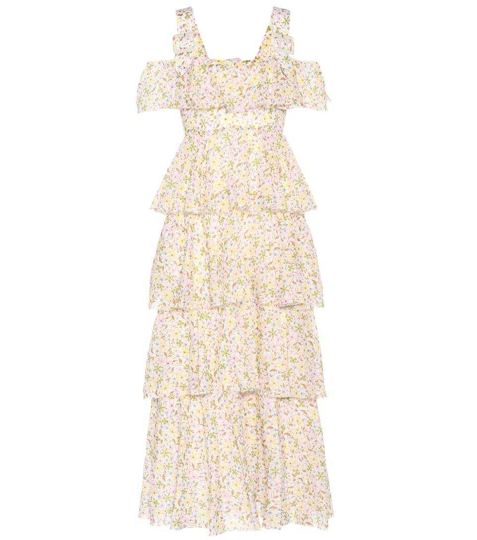 - FLORAL PRINTED COTTON DRESS