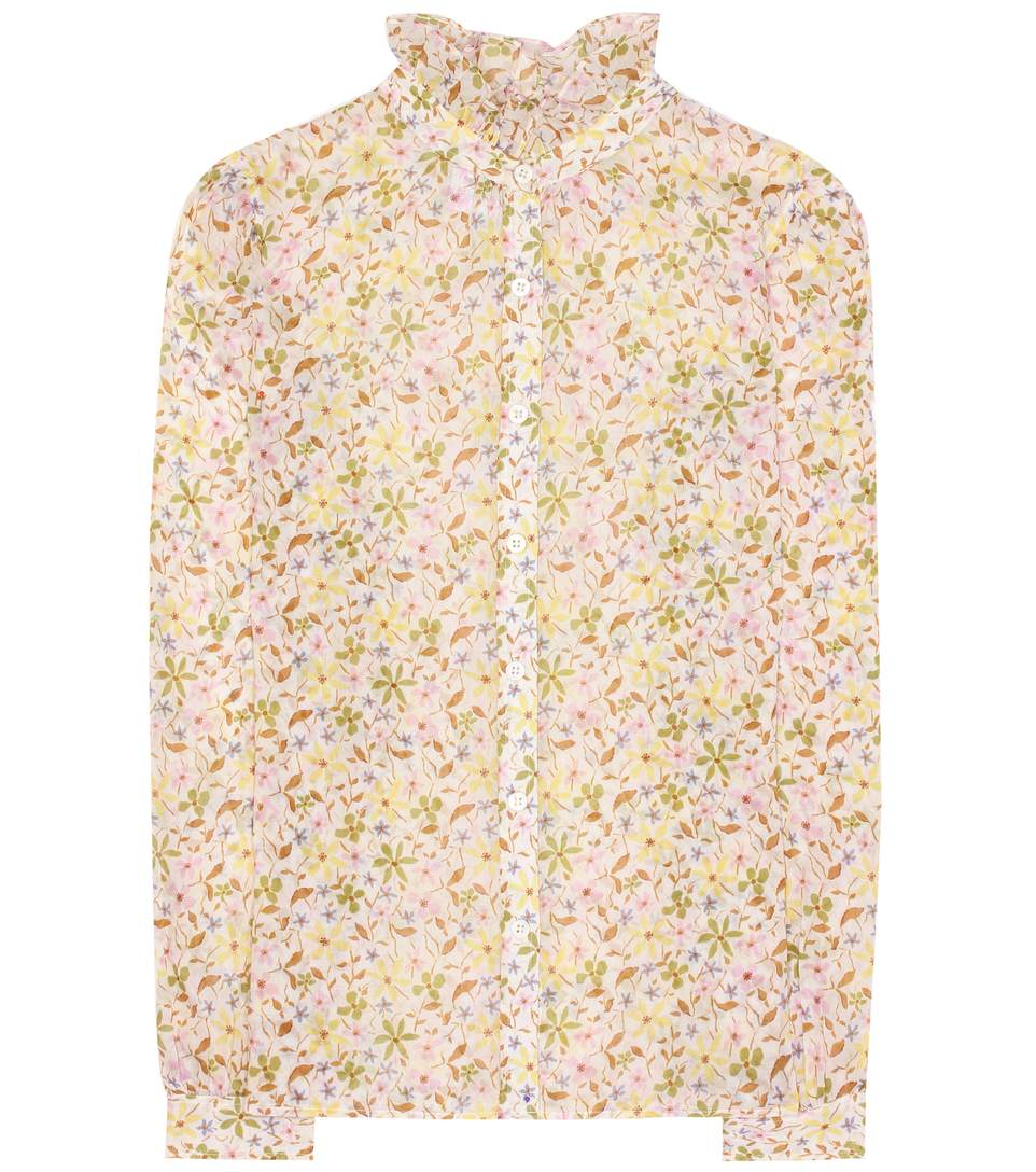 - FLORAL PRINTED COTTON SHIRT