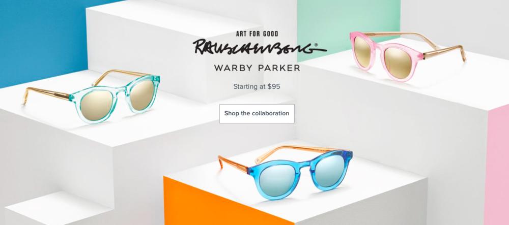 Warby Parker x Rauschenberg collaboration