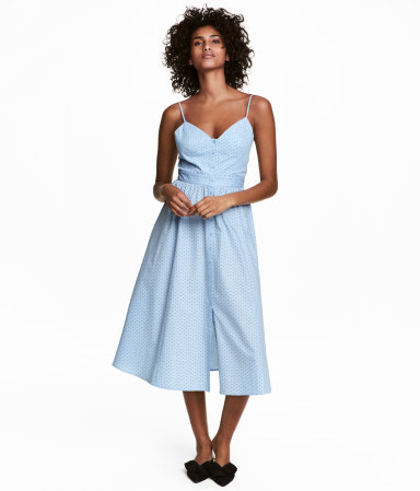 H&M light blue cotton dress under $50