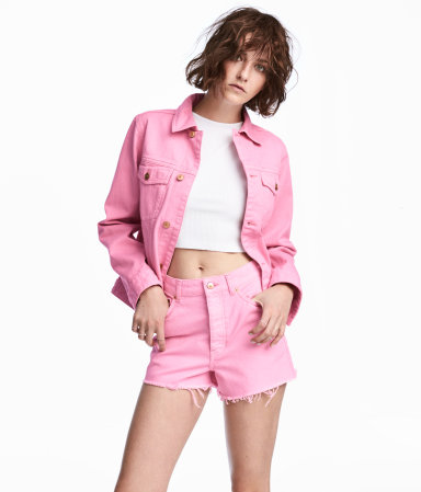 H&M Pink Denim Jacket under $60