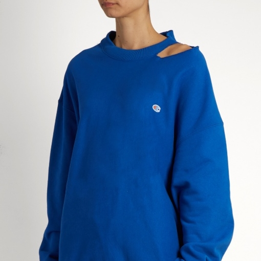 Vetements x Champion oversized cotton sweatshirt