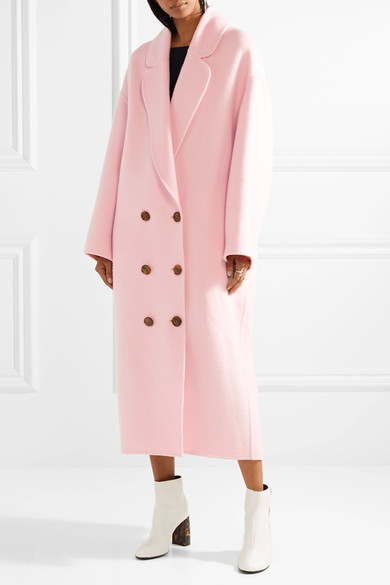 - OVERSIZED WOOL FELT COAT IN PASTEL PINK $1,295