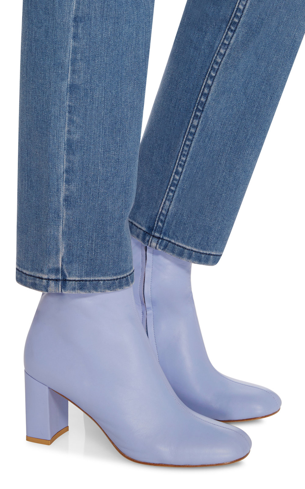 - BLUE AGNES LEATHER ANKLE BOOT $580   *photo via Moda Operandi