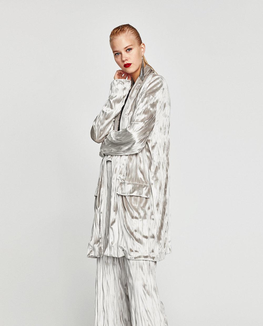 - OVERSIZED VELVET BLAZER / Zara $49.90*courtesy photo