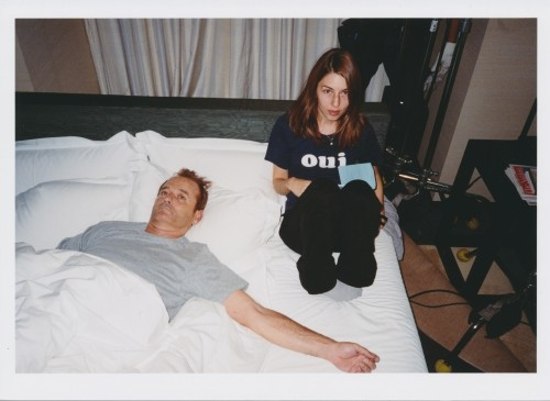 Bill Murray x Sofia Coppola on set of 'Lost in Translation'.