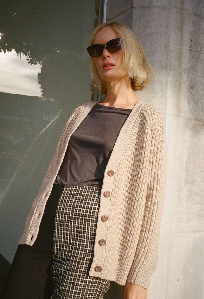 - JENNI KAYNE 'MERINO RIBBED CARDIGAN' / Shop Super Street $315