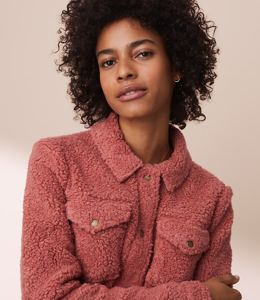 A warm and fuzzy jacket to layer on for winter....