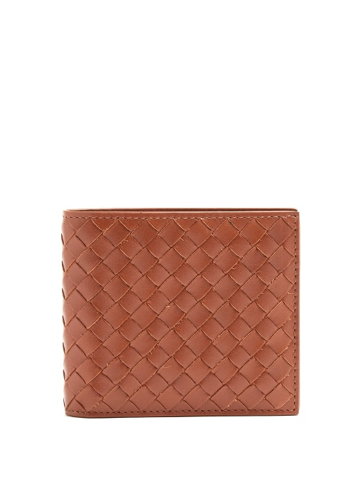 - INTRECCIATO BI-FOLD LEATHER WALLET / Bottega Veneta