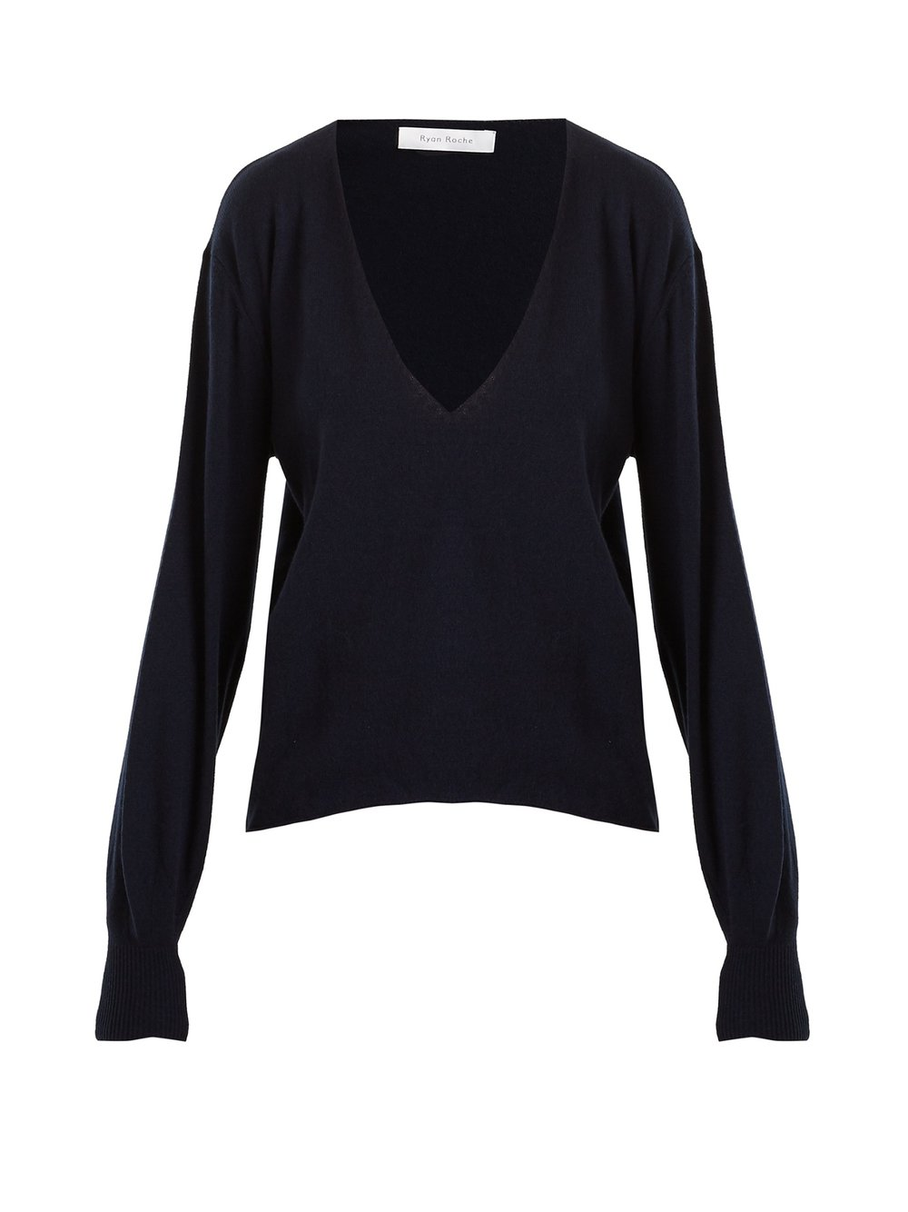 - DEEP V-NECK CASHMERE SWEATER / Ryan Roche $634