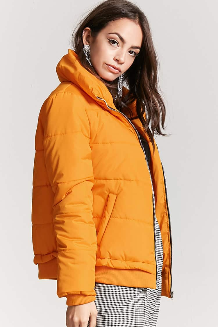 - ZIP-UP PUFFER JACKET / Forever 21 $21.90