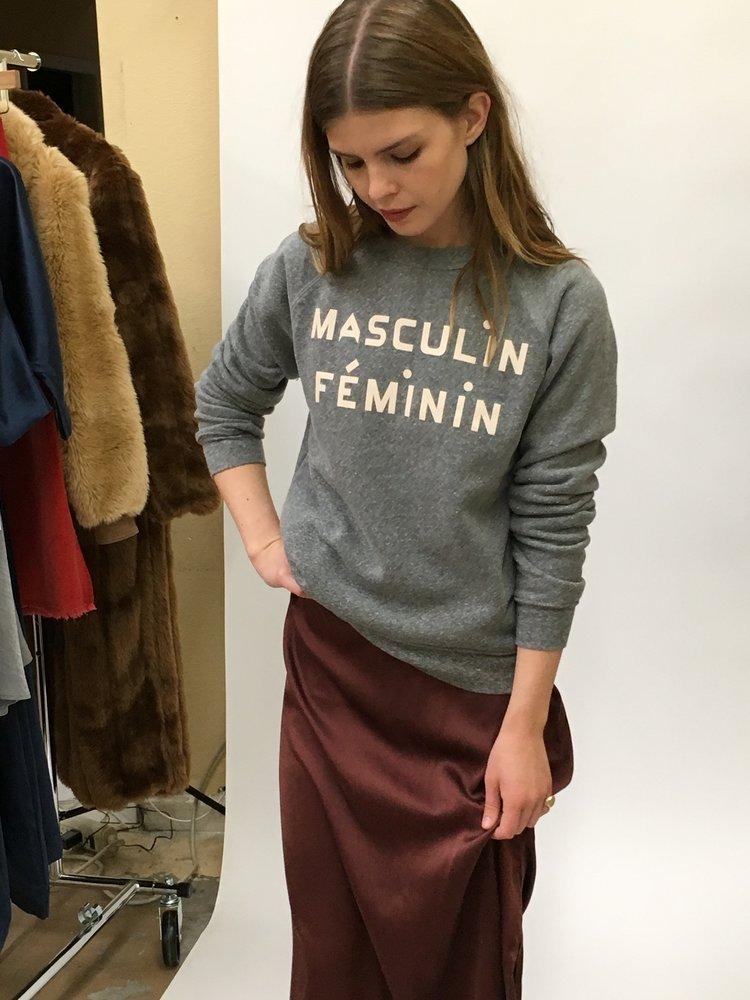 - Lisa Says Gah: 25% off entire site / code: GAH25Clare V Masculin Feminin Sweatshirt $128