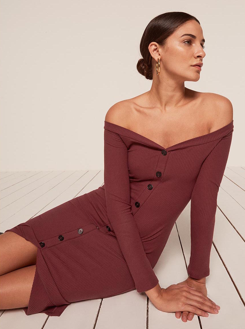 - Reformation: 30% off sitewide / no promo code Cora Dress $83