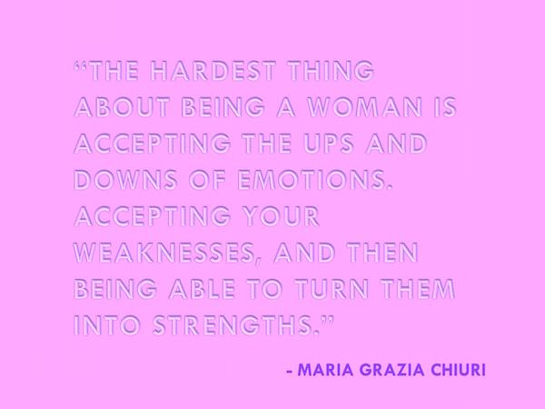 That's what she said ... Maria Grazia Chiuri // DNAMAG