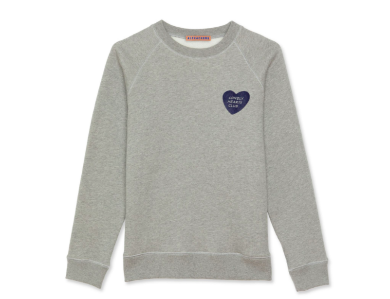 - LONELY HEARTS CLUB BADGE FLOCK SWEATSHIRT $270