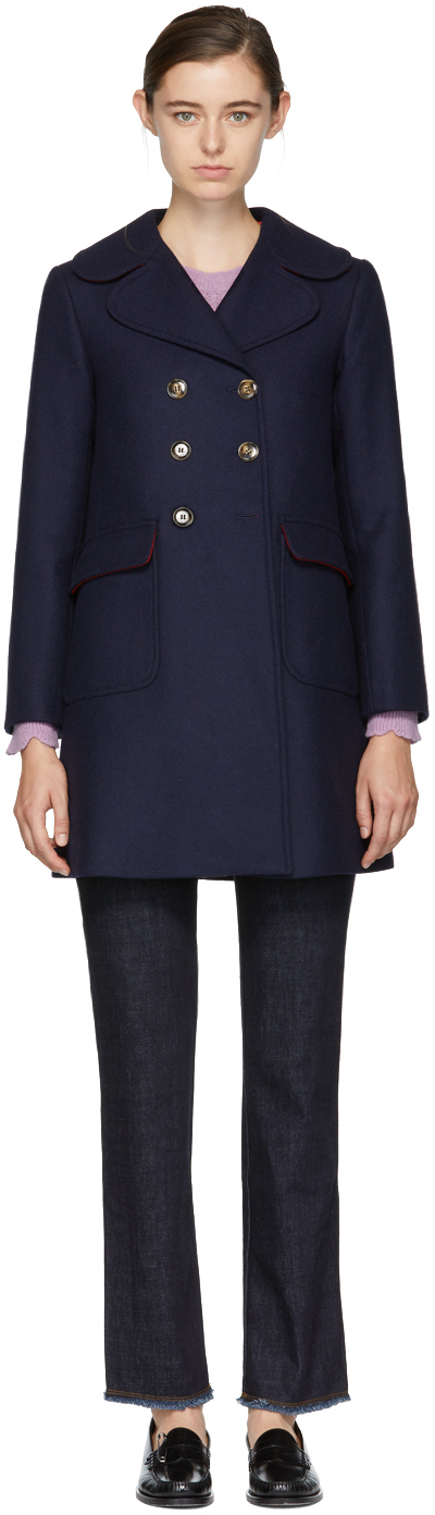- NAVY MILITARY PEACOAT $526 (sale)