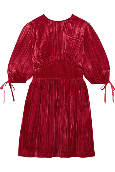- BOW EMBELLISHED VELVET DRESS $315 (sale)