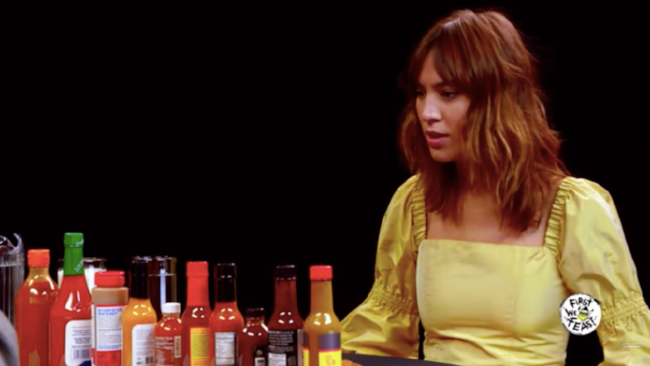Watch Alexa Chung try really really really really hot hot sauce... via DNAMAG