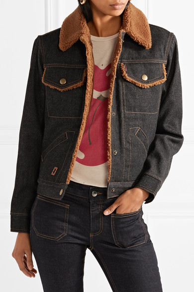 - FAUX SHEARLING DENIM JACKET was $595, now $297 / Marc Jacobs