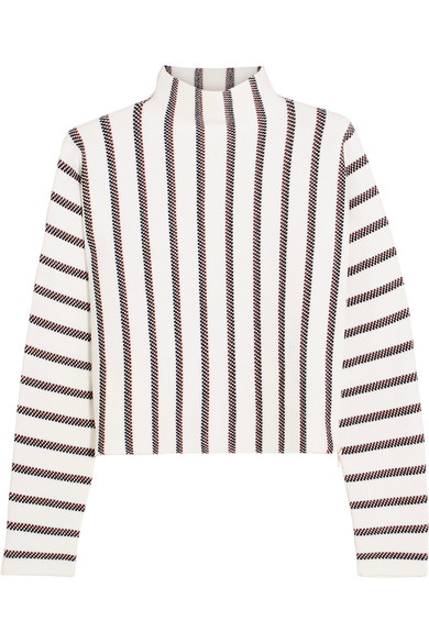 - JACQUARD KNIT TURTLENECK SWEATER was $325, now $162 / Maje