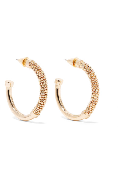- ORISSA GOLD-PLATED HOOP EARRINGS was $225, now $135 / Eddie Borgo