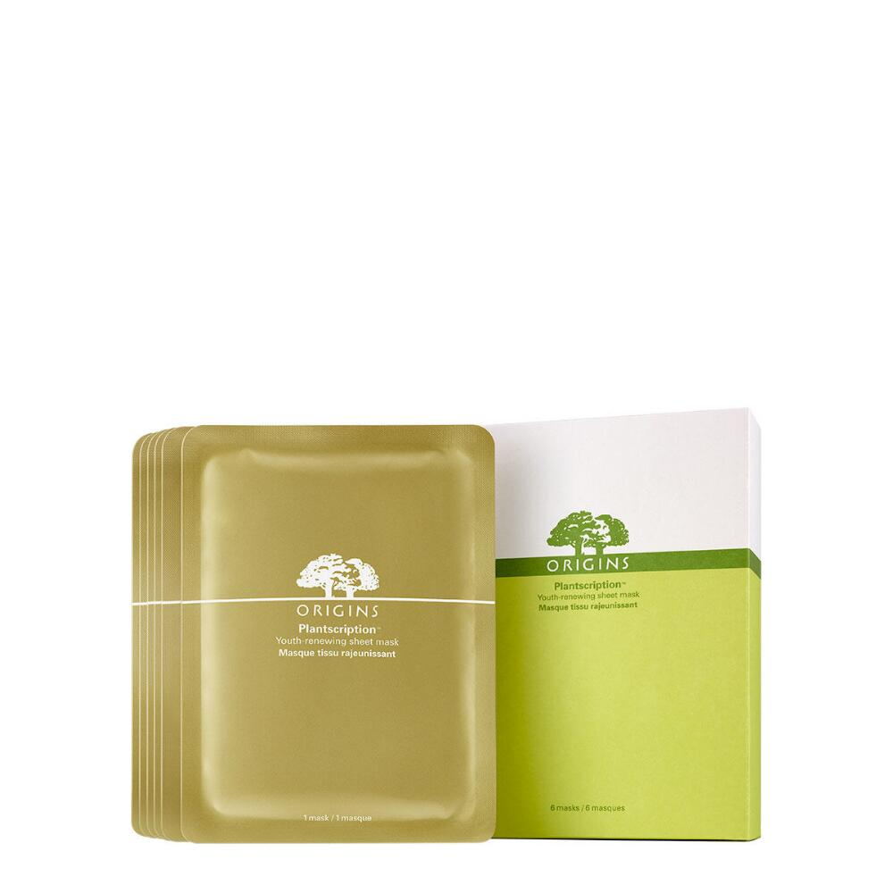 - PLANTSCRIPTION YOUTH-RENEWAL SHEET MASK / Origins $46 for pack of 6 *I hear nothing but good things about this sheet mask, like that it has the power of