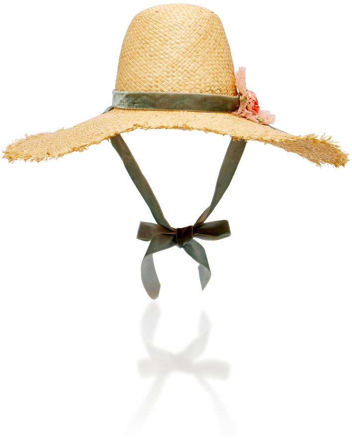- OVERSIZED STRAW HAT / Loveshack Fancy x Gigi Burris at Moda Operandi