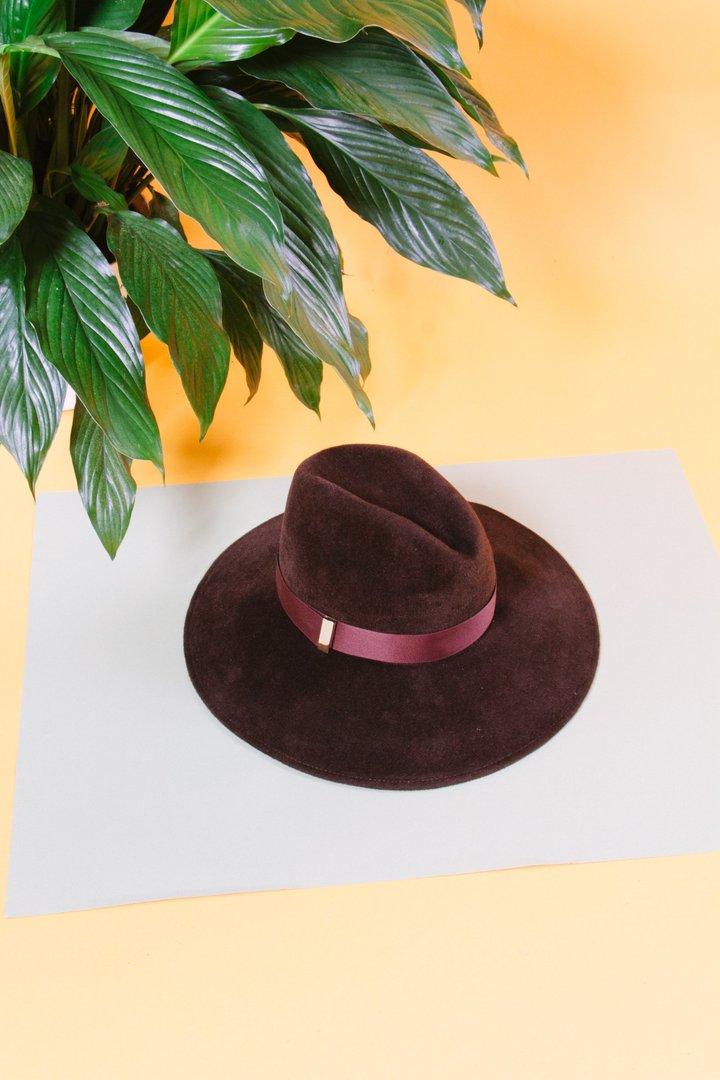 - DRAKE WOOL WIDE-BRIMMED HAT at Tenoversix