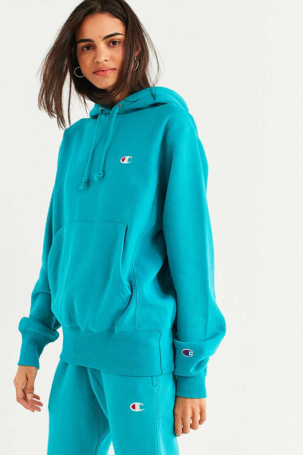 - REVERSE WEAVE HOODIE / Champion x UO (online exclusive) $65 available at Urban Outfitters