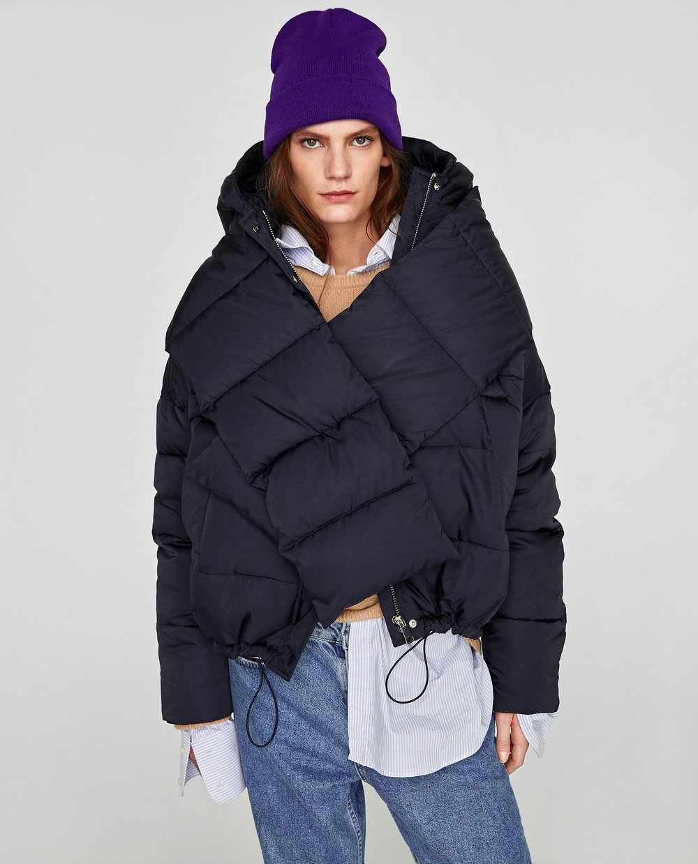 - QUILTED JACKET WITH SCARF / SALE PRICE $80