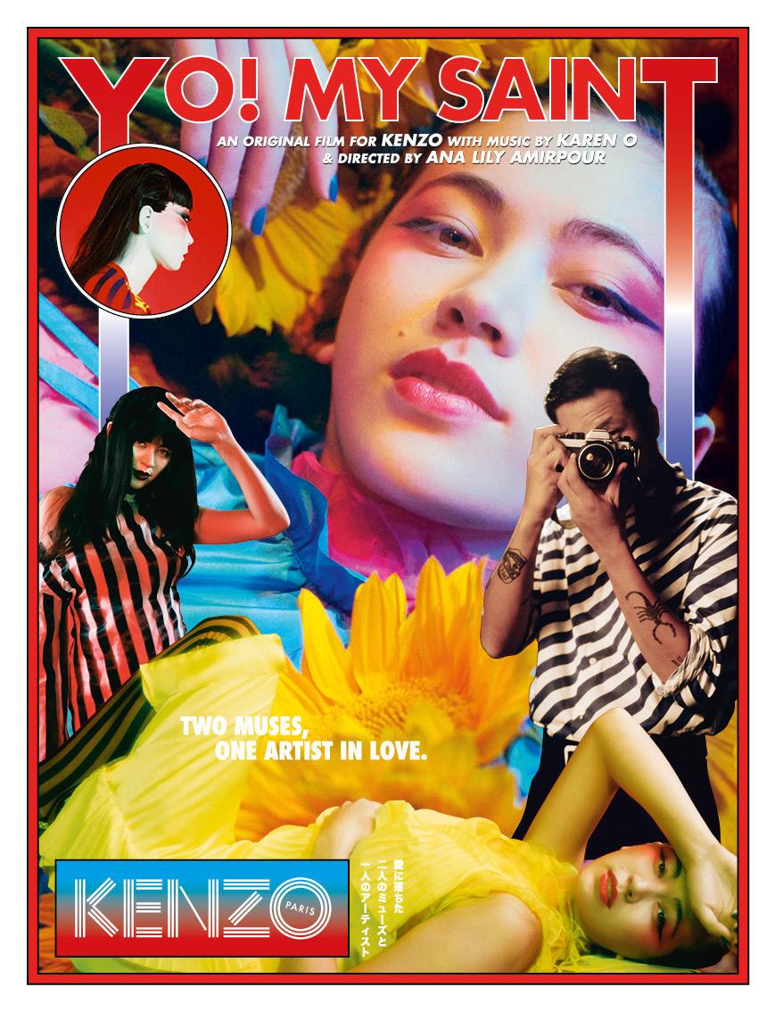 "Watch Kenzo's ss18 short film ""YO! MY SAINT"" sung and produced by Karen O feat. Kiko Mizuhara // DNAMAG"