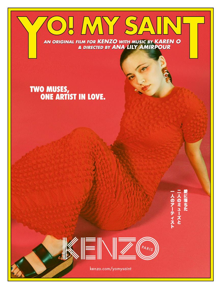 "Watch Kenzo's SS18 short film ""YO! MY SAINT"" w/music by Karen O, featuring Kiko Mizuhara // DNAMAG"