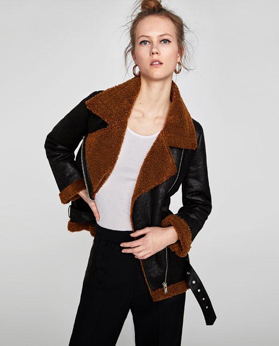 - TEXTURED BIKER JACKET / Zara sale price $80