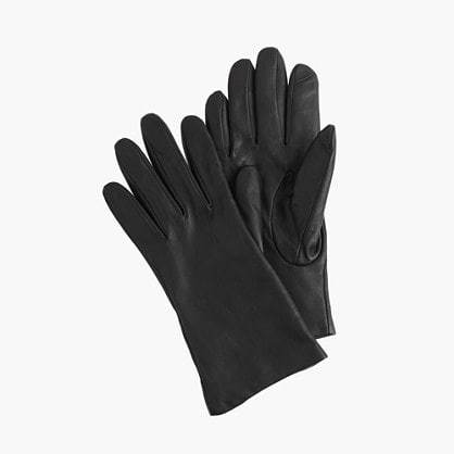 - CASHMERE LINED LEATHER TECH GLOVES / J.Crew