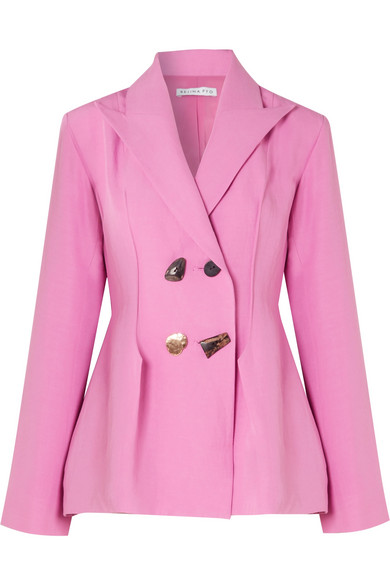 - NICOLE DOUBLE-BREASTE BLAZER / Rejina Pyo available at Net-a-Porter $720