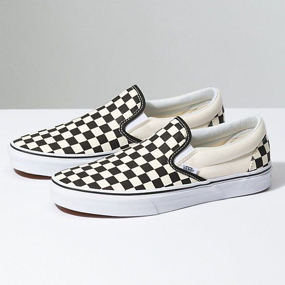 - CHECKERED CANVAS SLIP-ON'S / Vans $50