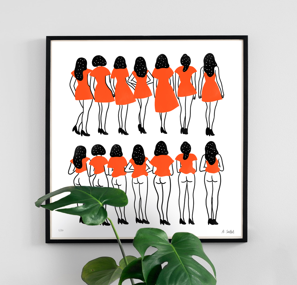- Sous les jupes des filles. (Under the girls skirts) 50 EUR