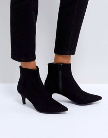 - POINTED KITTEN HEEL ANKLE BOOTS / New Look available at Asos $45