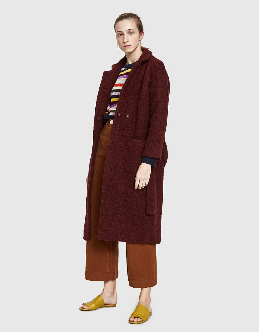 - FENN LONG WRAP COAT / Ganni available at Need Supply