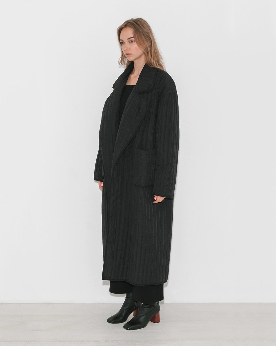 - QUILTED OVERCOAT / Nomia available at The Dreslyn