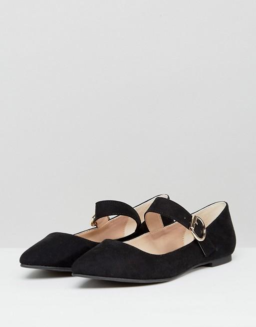 - London Rebel / Mary Jane Buckle Flat Shoe