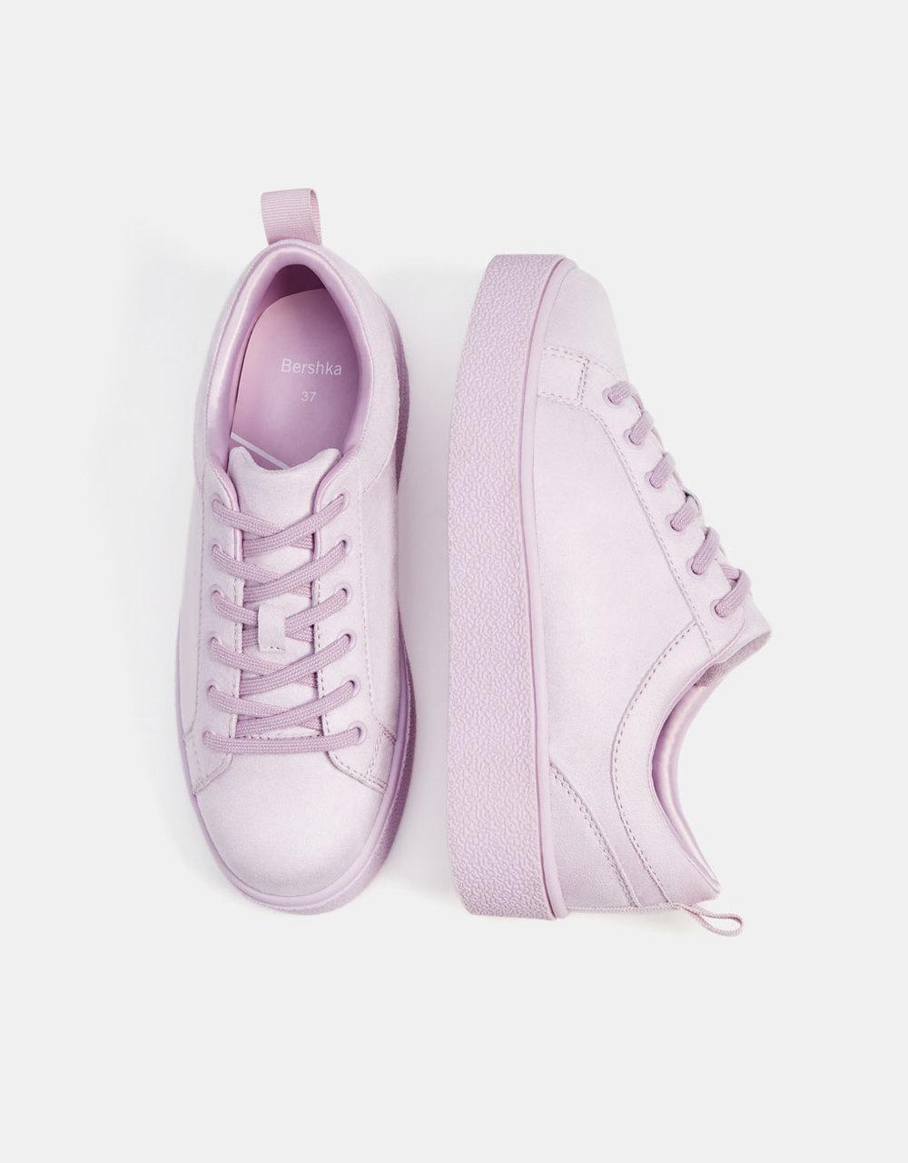- Bershka / Lilac Monochrome Sneakers
