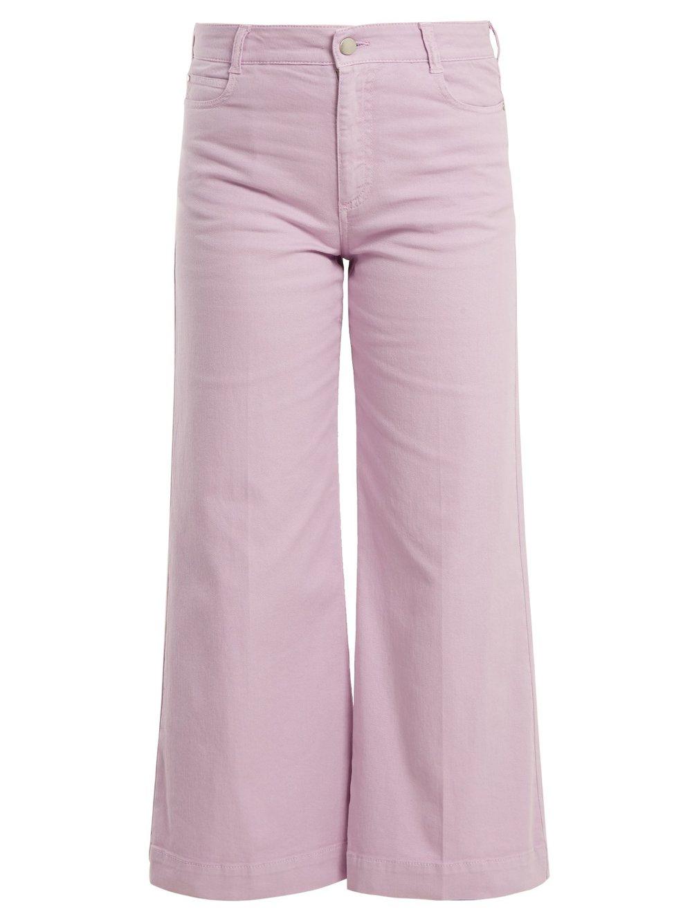 - Stella McCartney / Wide-Leg Cropped Jeans