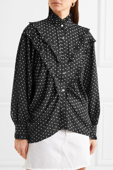 - POLKADOT CHIFFON BLOUSE / ALEXACHUNG $470 available at Net-a-Porter